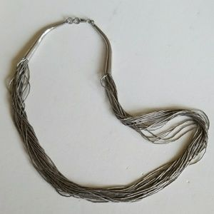 American Indian liquid Silver Vintage Necklace